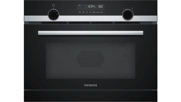 Keukensale - Siemens iQ500 Compacte magnetron met stoom inox